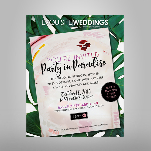 exquisite weddings fall launch party invitation