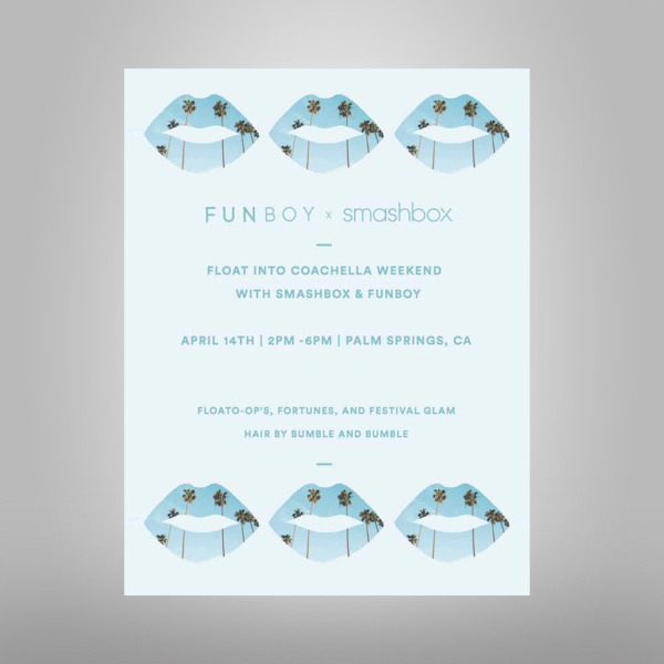 funboy x smashbox pool party invitation