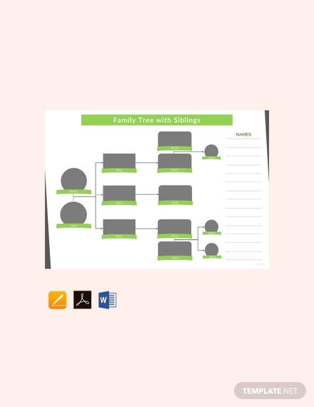 family tree template with siblings