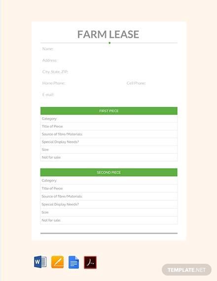 farm lease contract