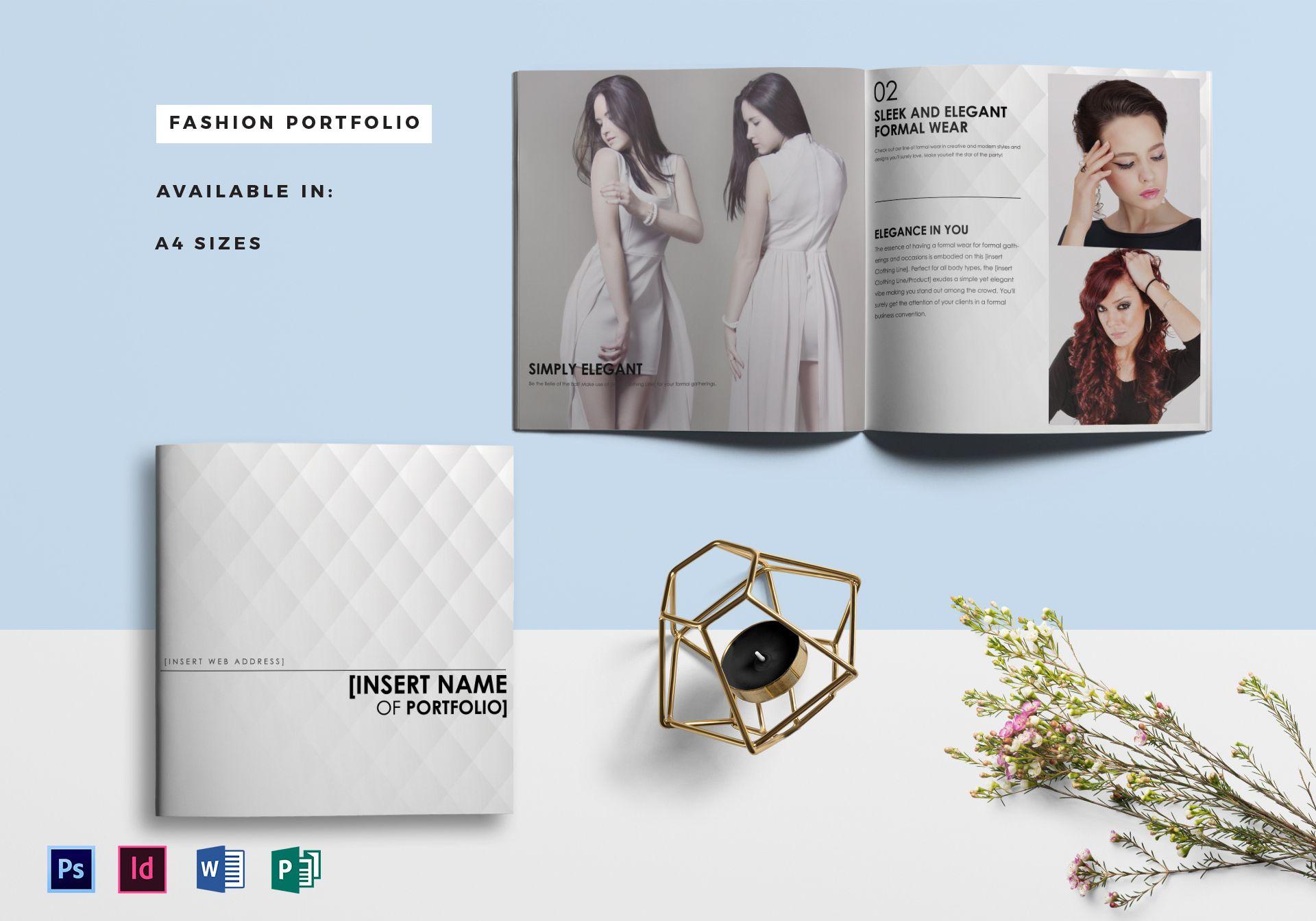 fashion portfolio catalog template