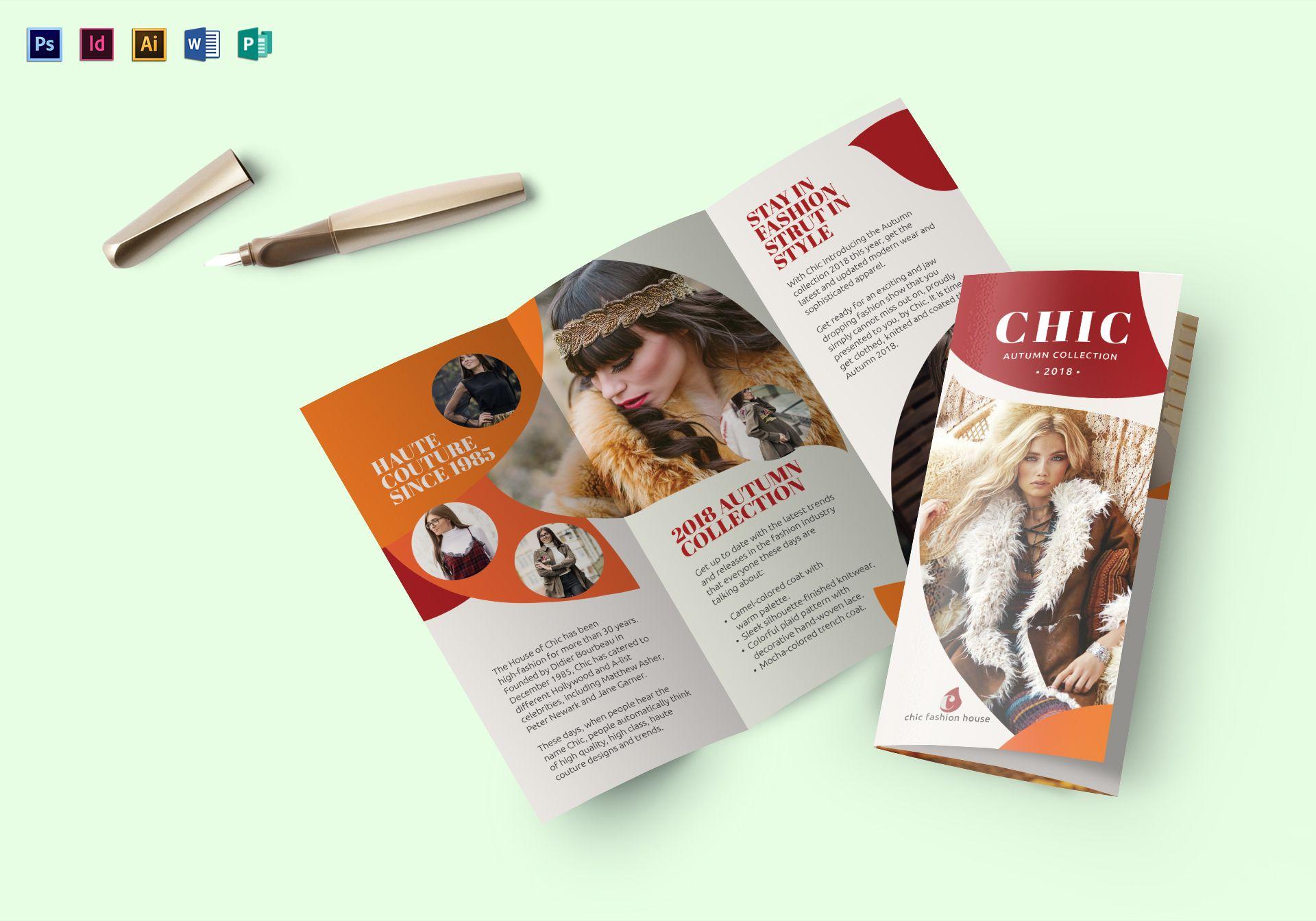 fashion trend brochure template