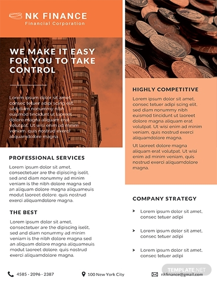 financial planners datasheet design