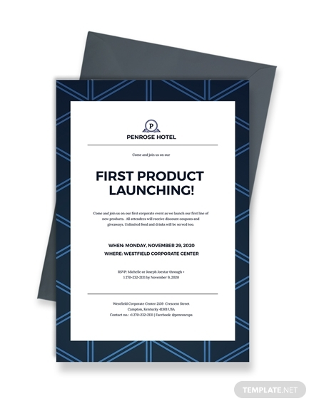first product launching invitation