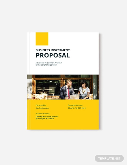 free business investment proposal template