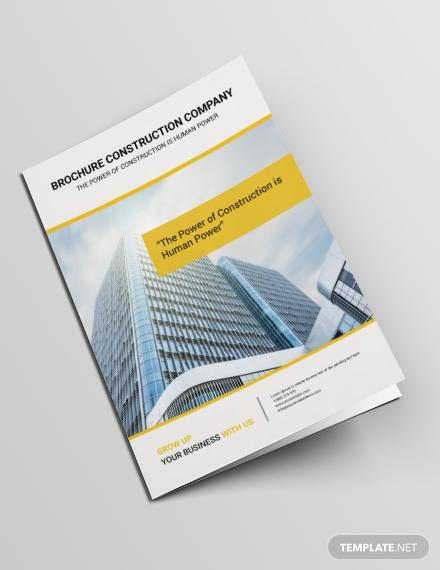 free construction brochure