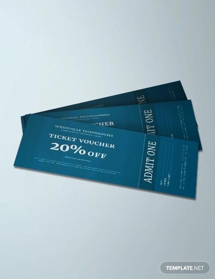 free ticket voucher