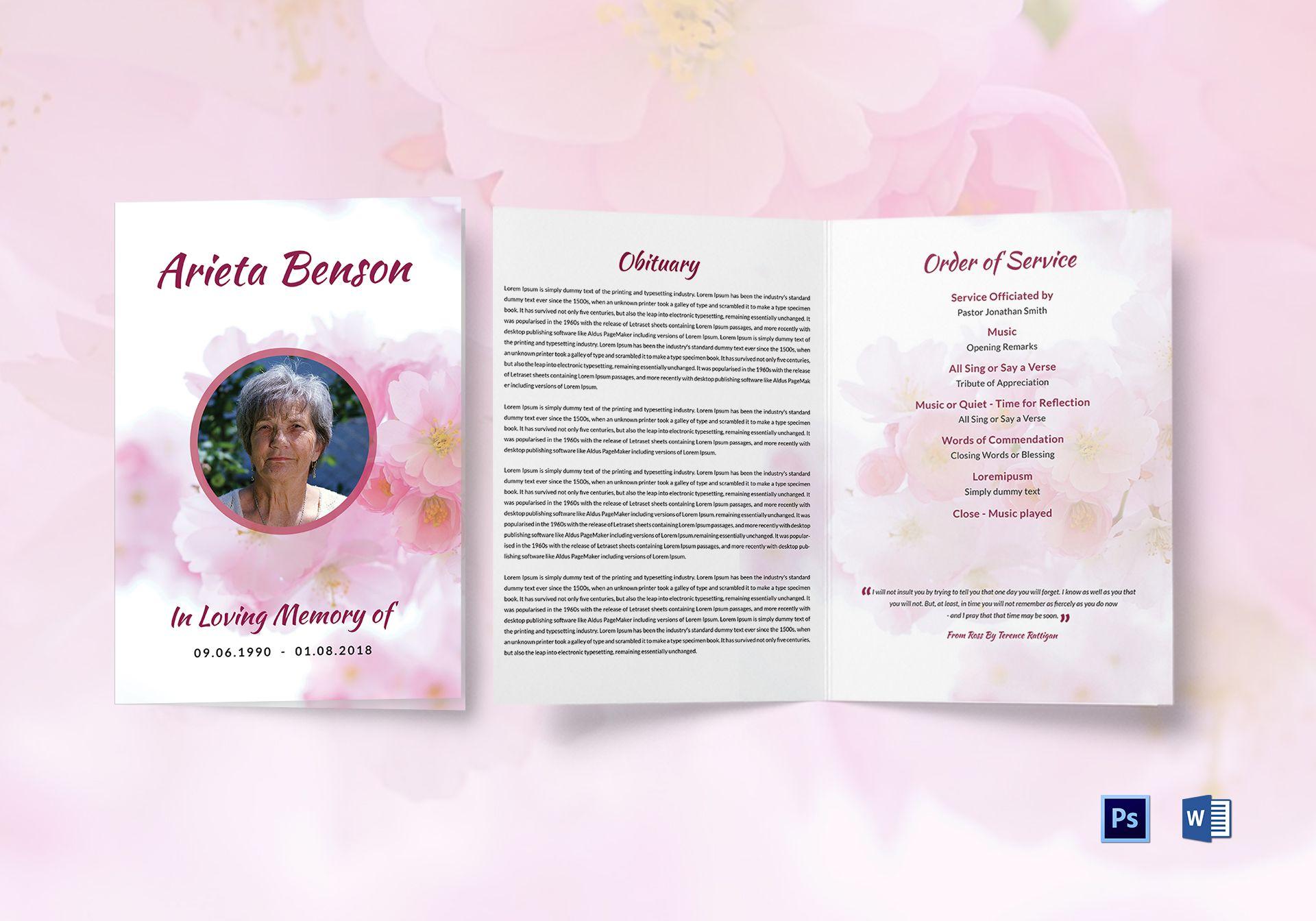 funeral bi fold brochure