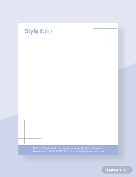 furniture shop letterhead