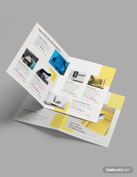 furniture store bi fold brochure