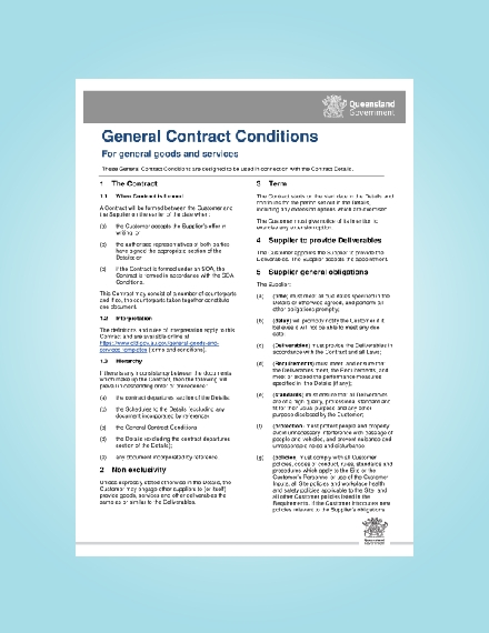 goods and services general contract