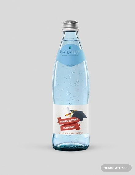 graduation water bottle label