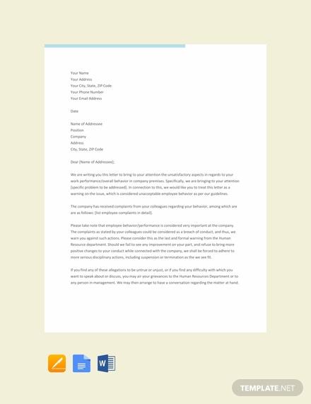 hr warning letter