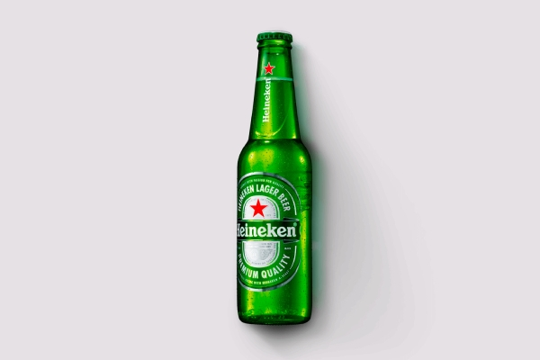heineken bottle label