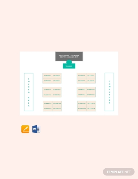 high school classroom seating arrangements chart
