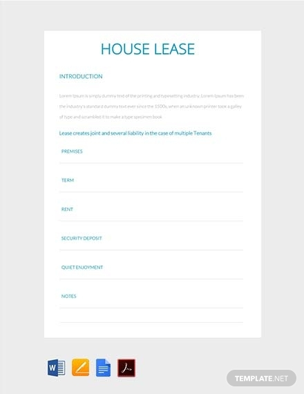 house lease contract