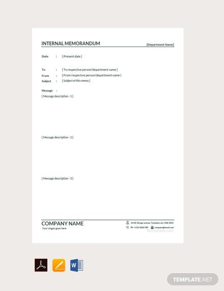 internal memo format1