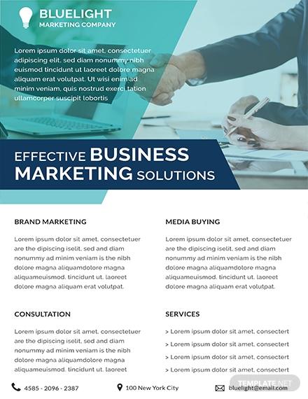 investment marketing datasheet sample