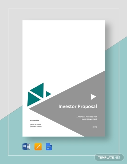 investor proposal template1