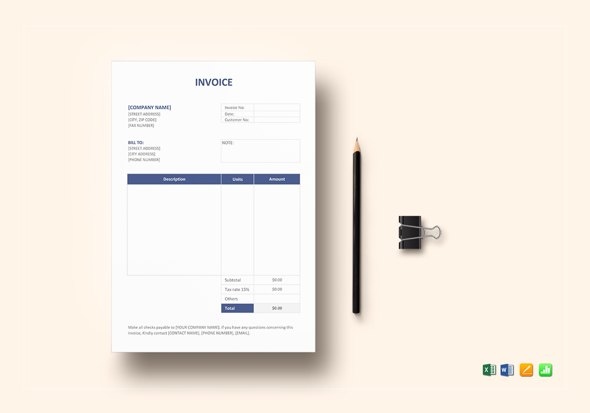 invoice format template