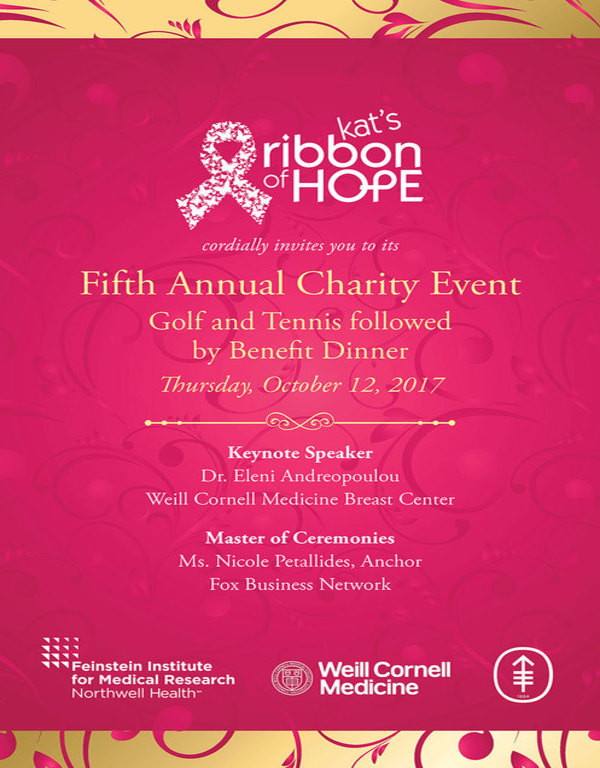kats ribbon of hope fifth annual charity event invitation