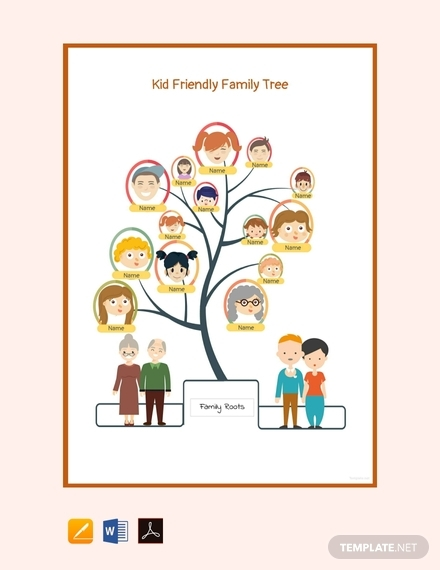 kid friendly family tree