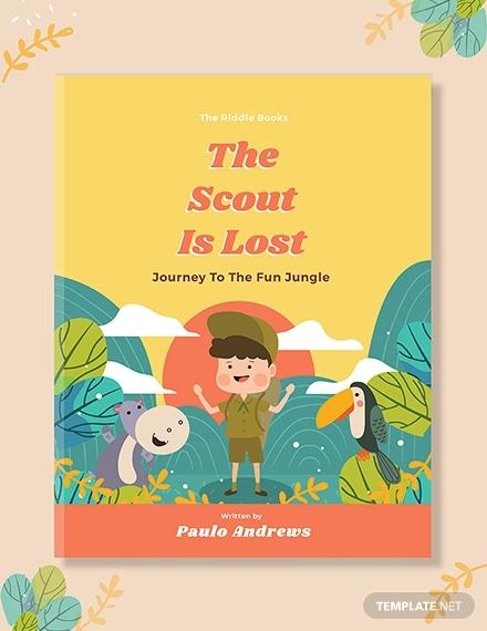 kids adventure book cover