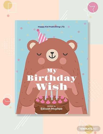 kids birthday book cover