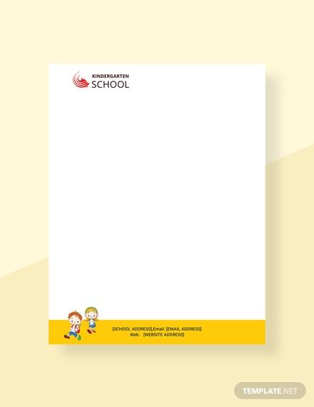 kindergarten letterhead