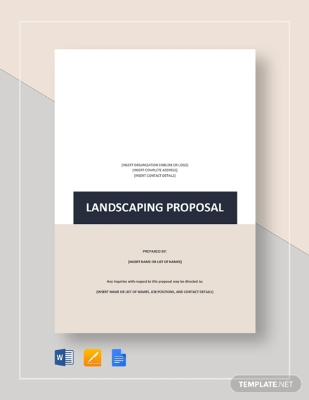 landscaping proposal