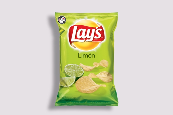 lays limon bag label