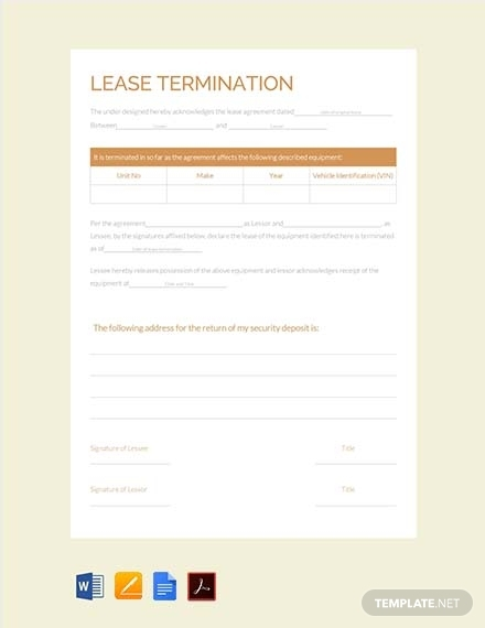 lease termination contract