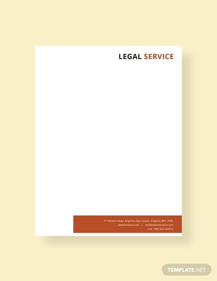 legal services letterhead