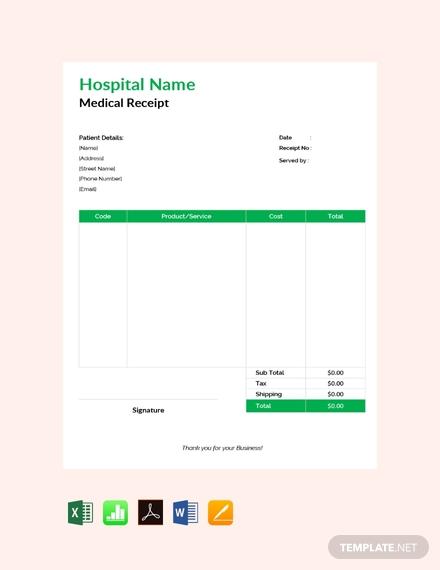 medical receipt