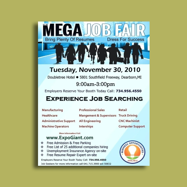 mega job fair flyer