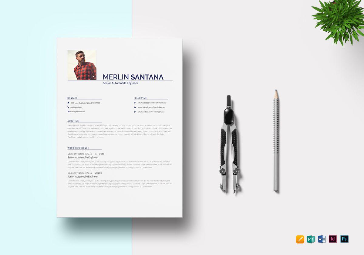 modern automobile engineer resume