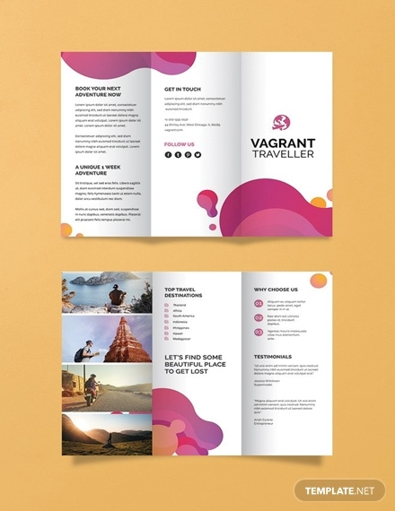 modern travel brochure template