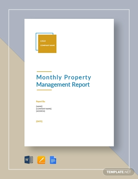 monthly property management report