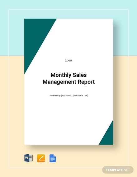 monthly sales management report