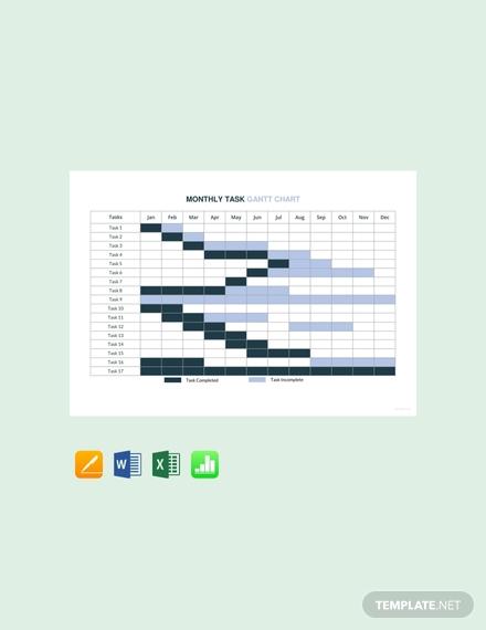 monthly task gantt chart