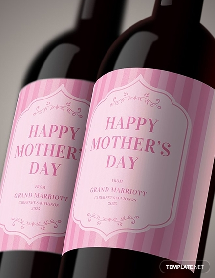 mothers day wine label