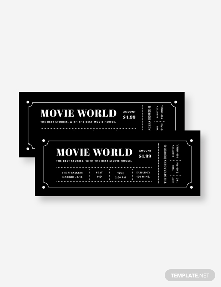movie night ticket invitation