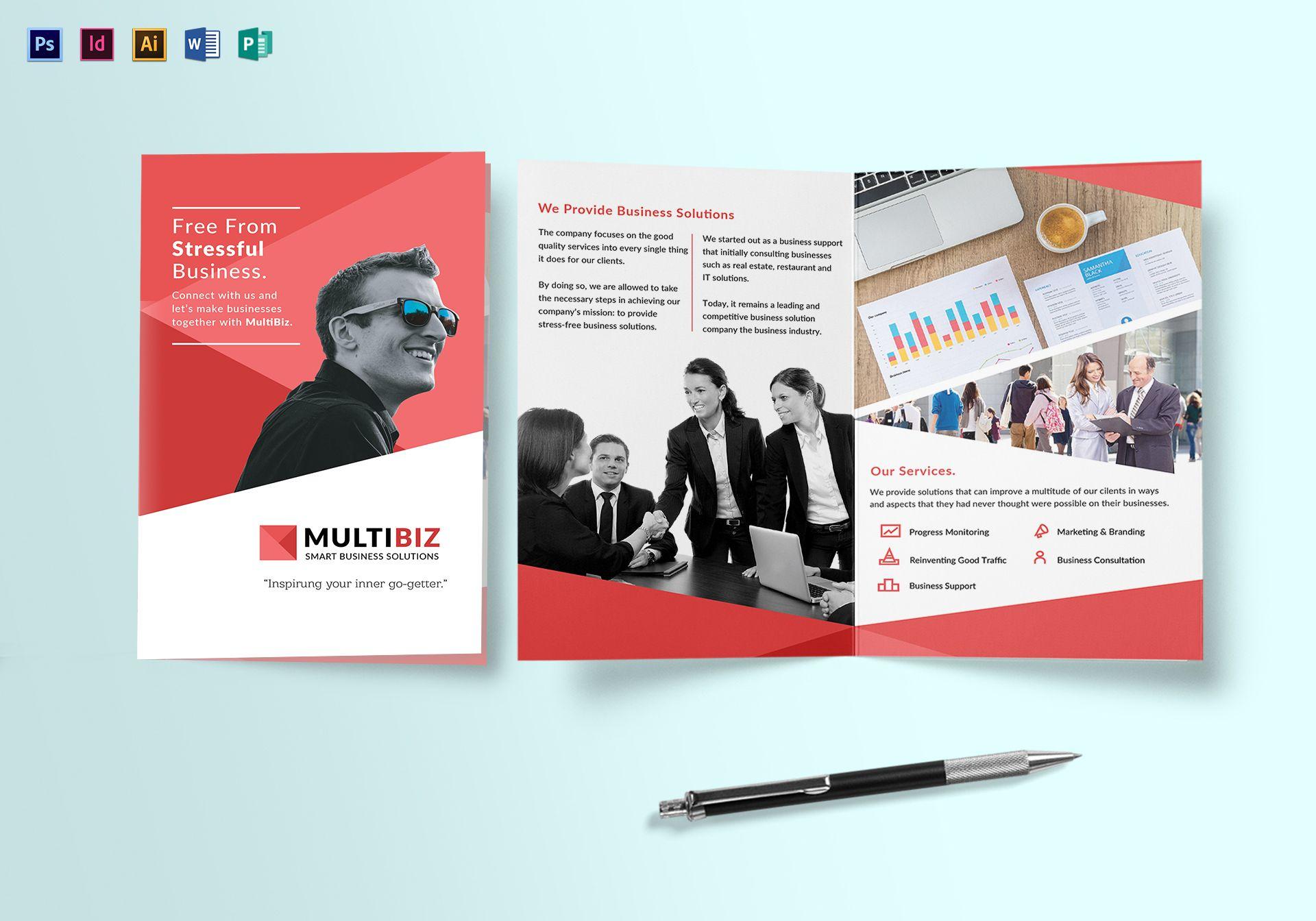 multipurpose business bifold brochure