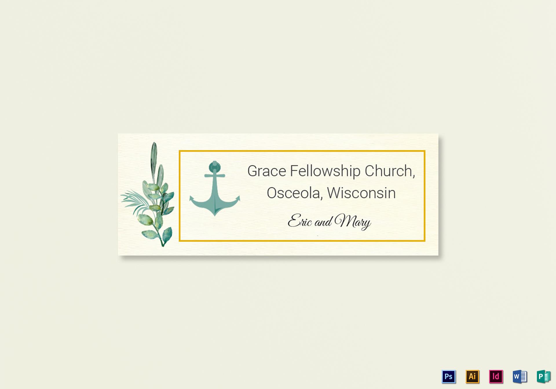 nautical wedding address labels card