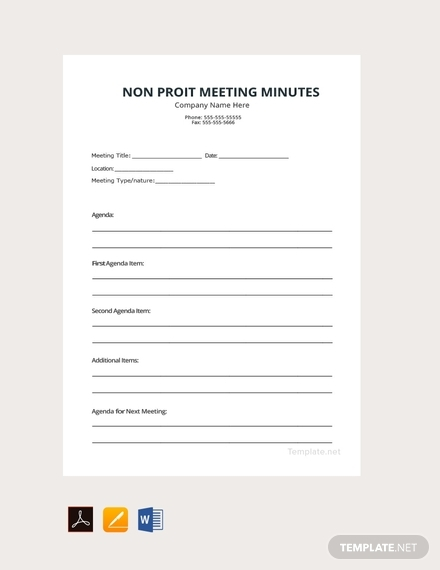 non profit meeting minutes