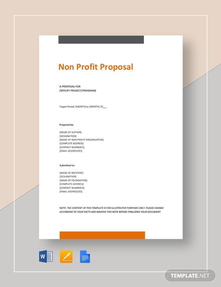 non profit proposal