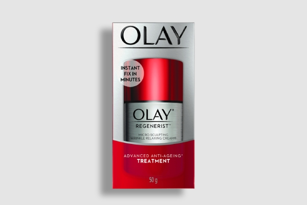 olay relaxing cream label