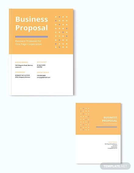 one page proposal