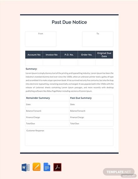 past due notice template
