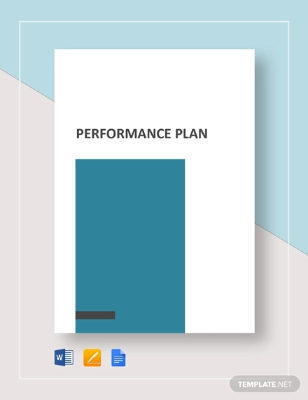 performance plan example